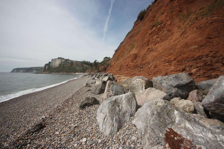 sea wall at seaton hole