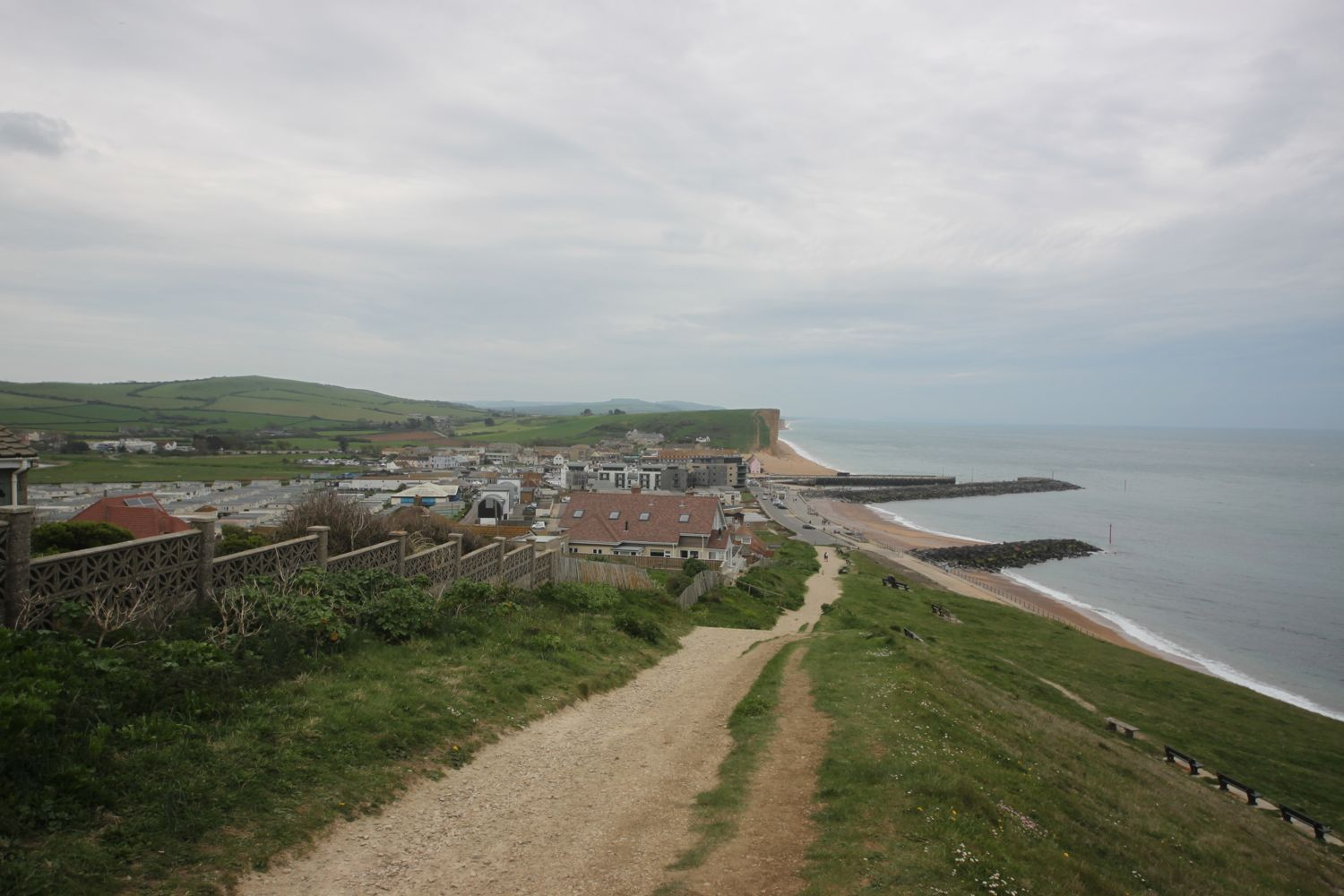 descending to west bay