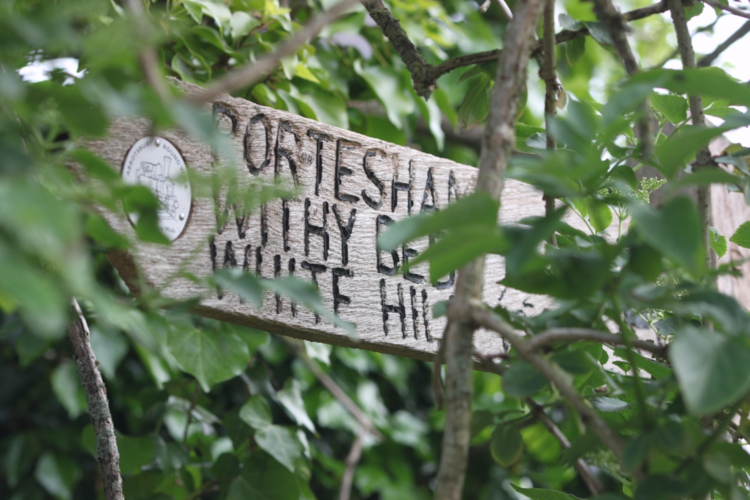 signpost for portesham withy beds