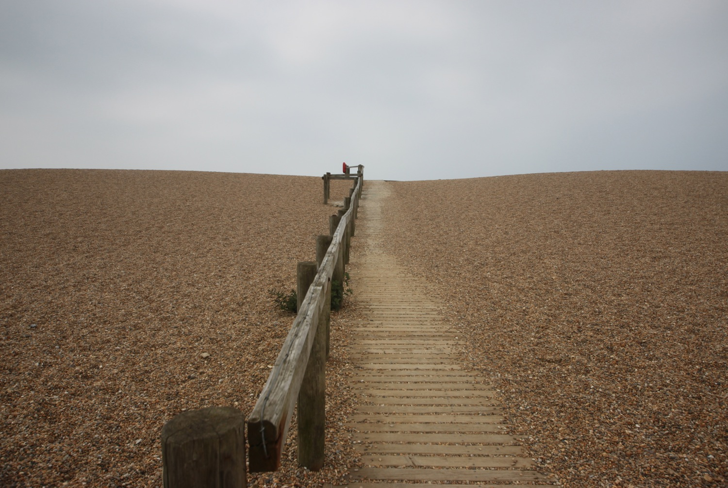 walkway onto chesil beach