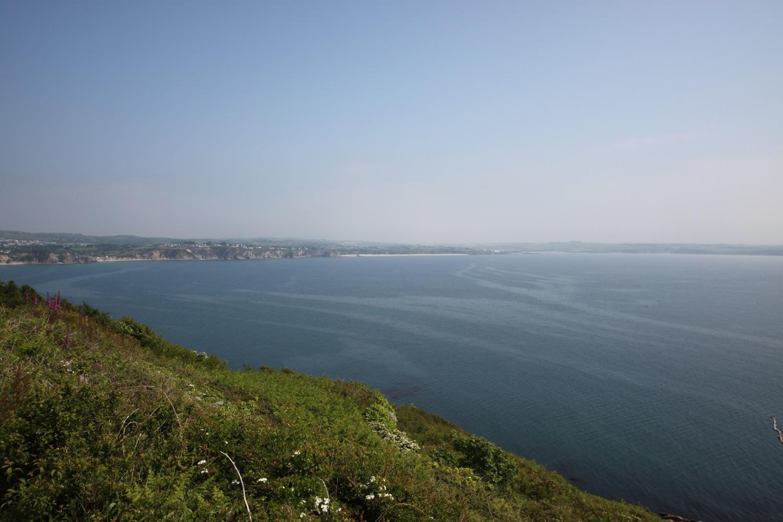 hazy views over st austell bay