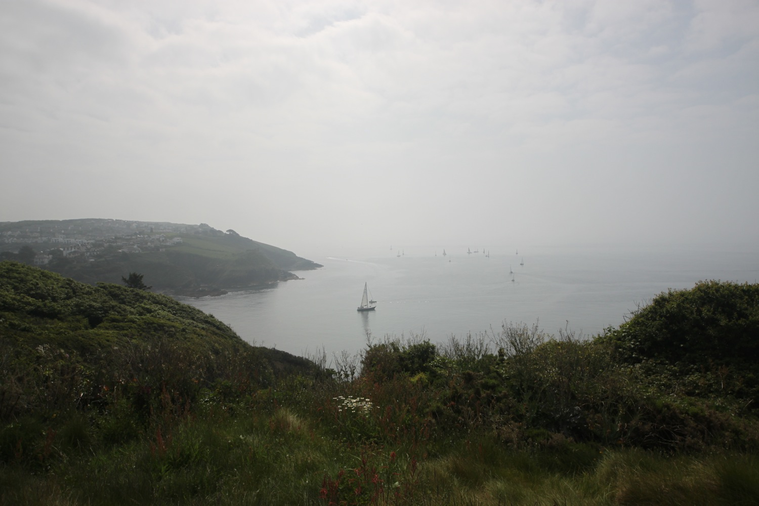 misty view over to polruan