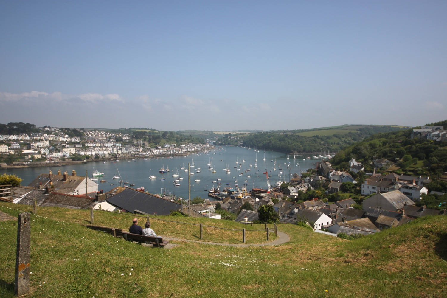 view back over fowey estuary