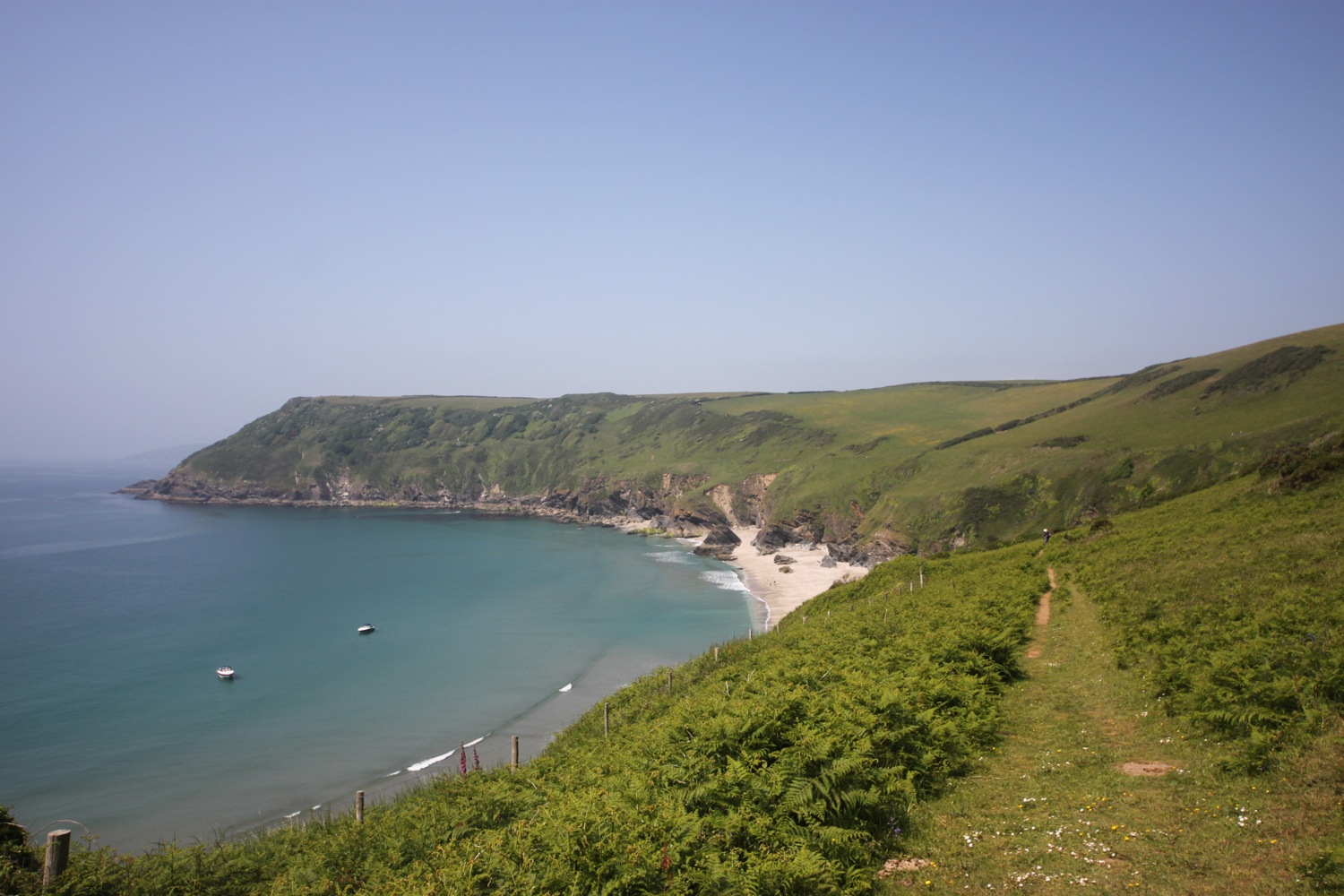 view back over lantic bay