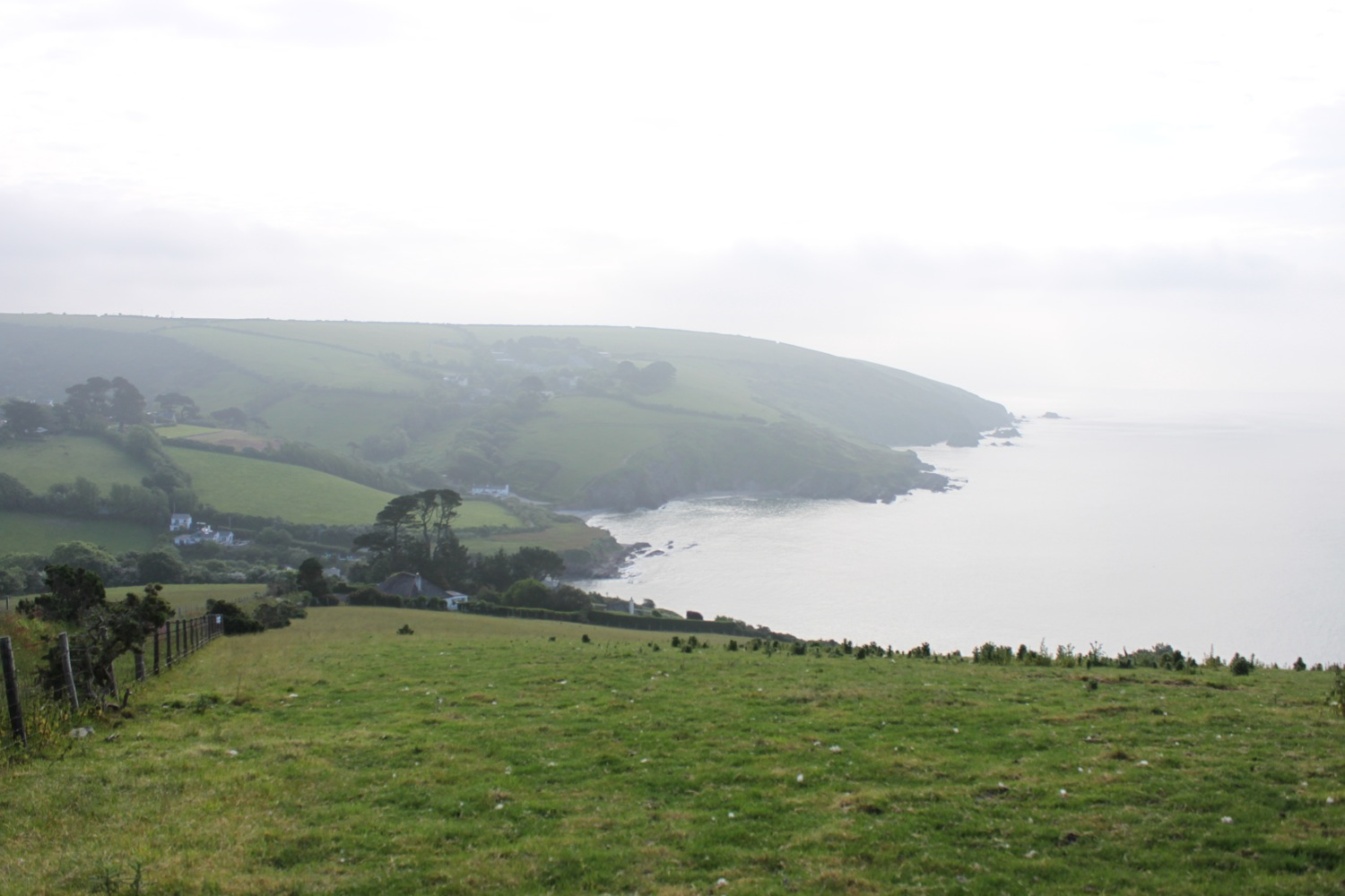 misty view over talland bay