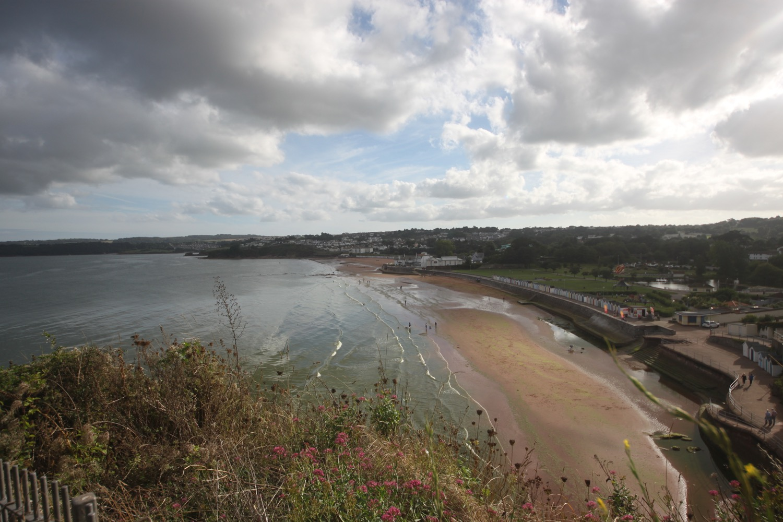 view back over goodrington sands