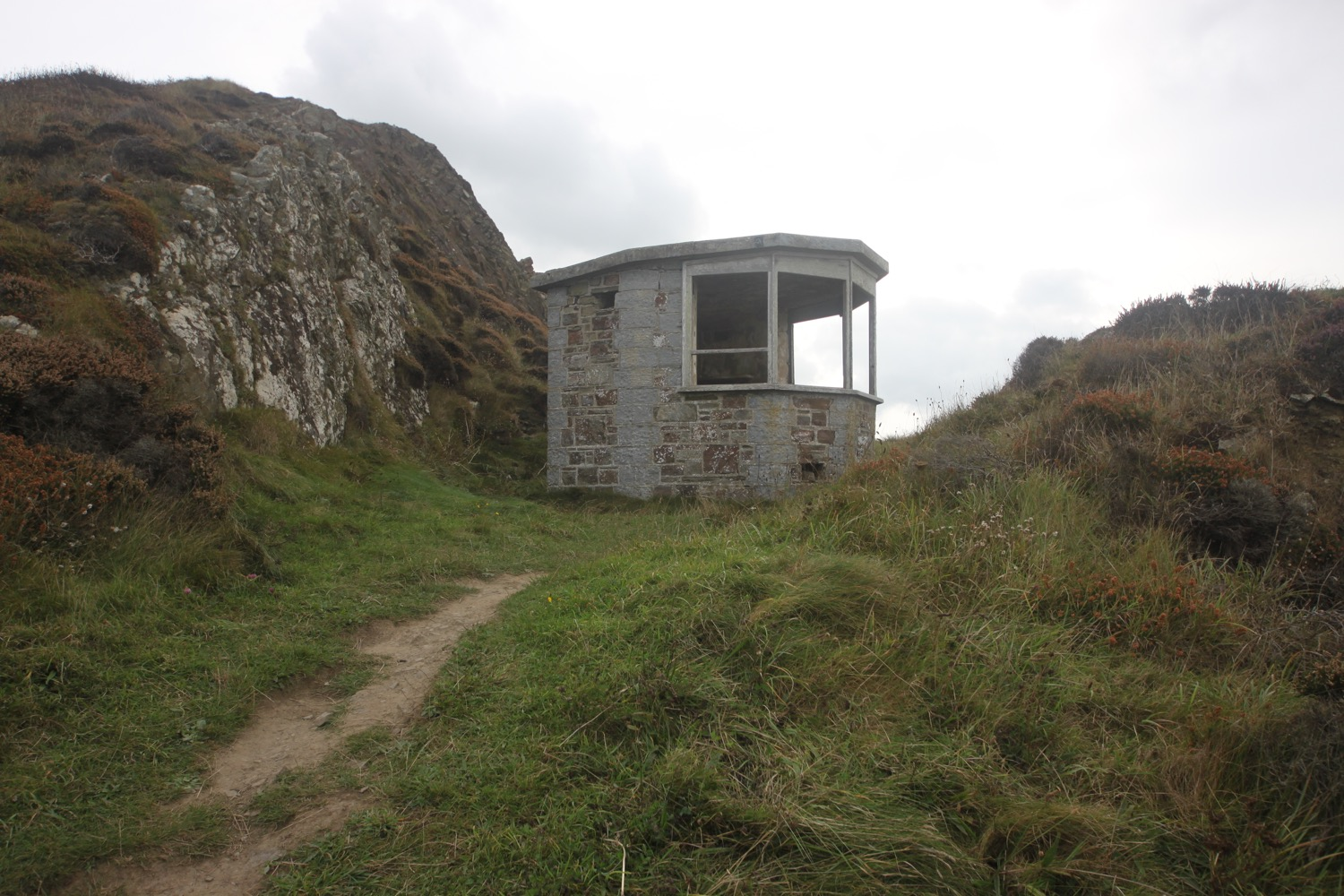 ruined coastguard lookout station