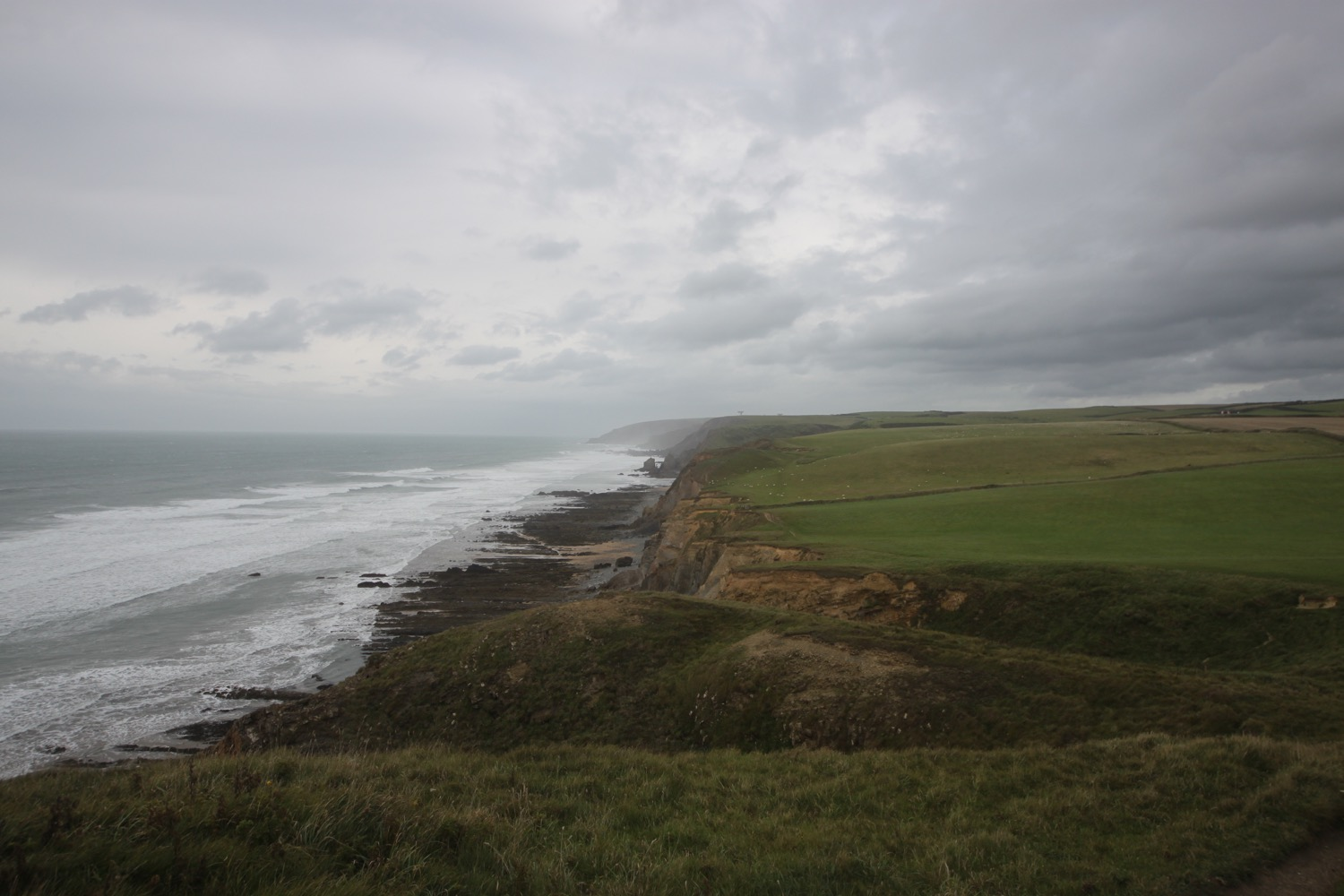 view back over sandymouth