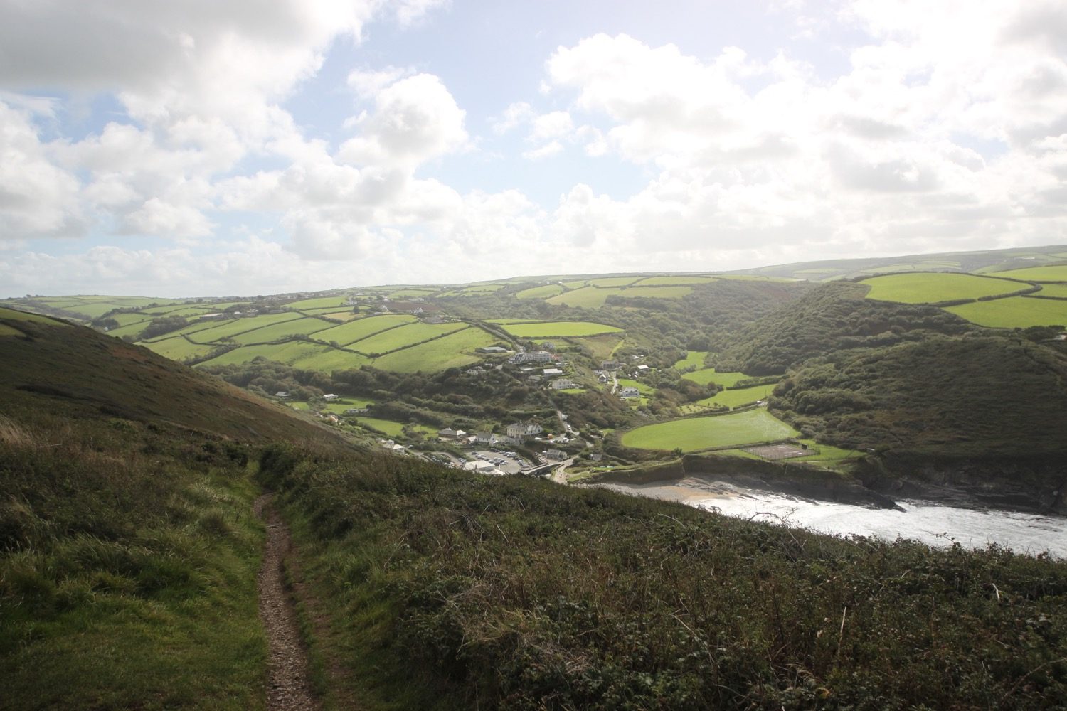 view over crackington haven