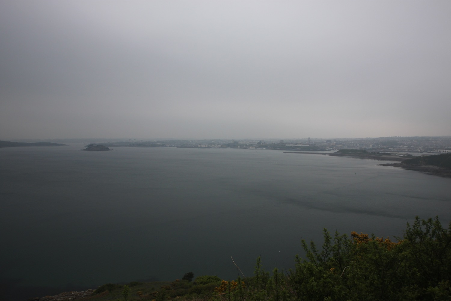 gloomy view over plymouth