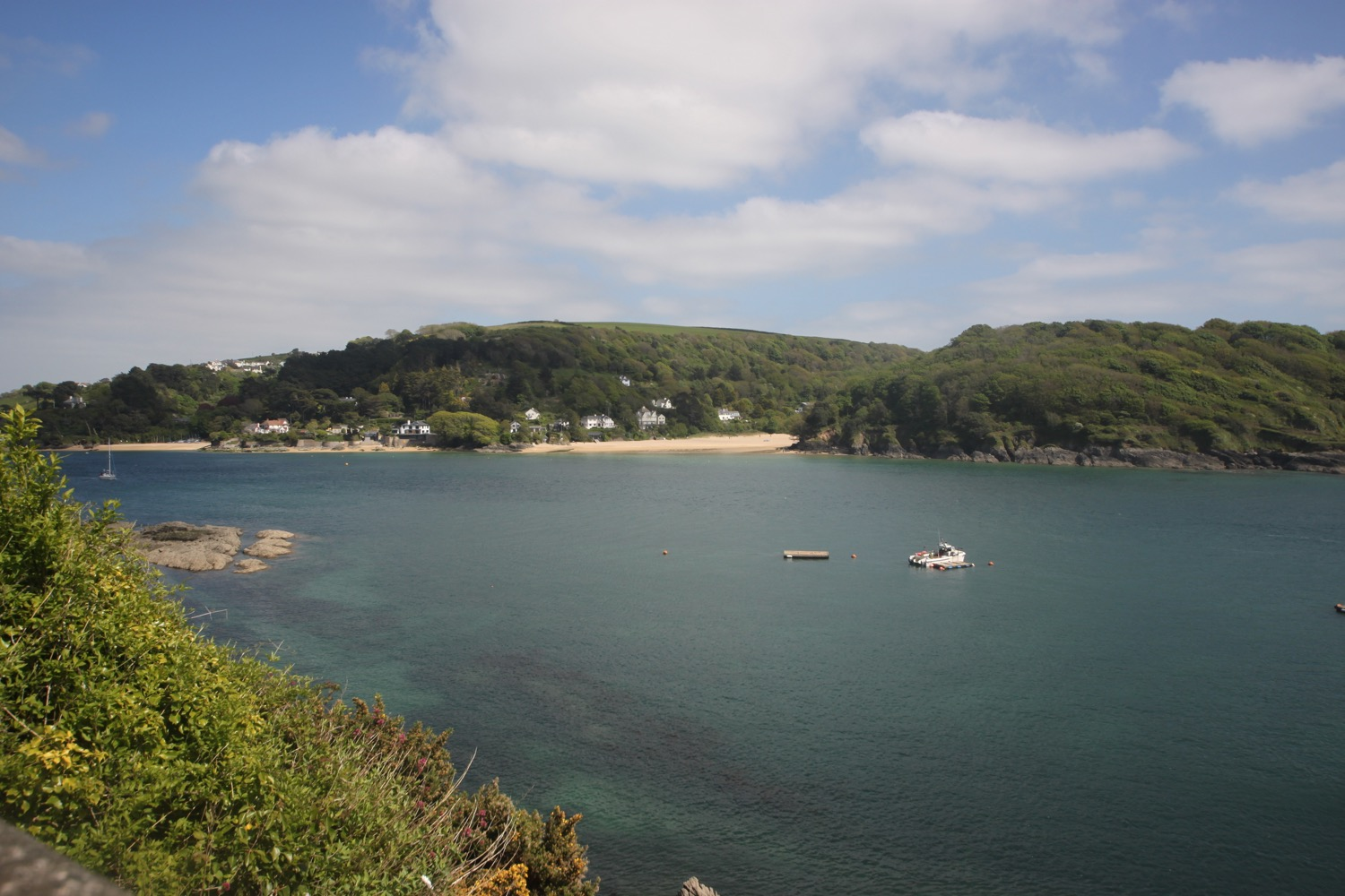 view over to east portlemouth