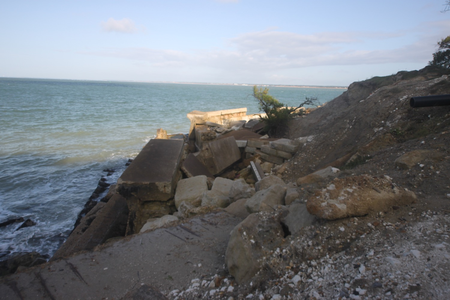 wrecked seawall