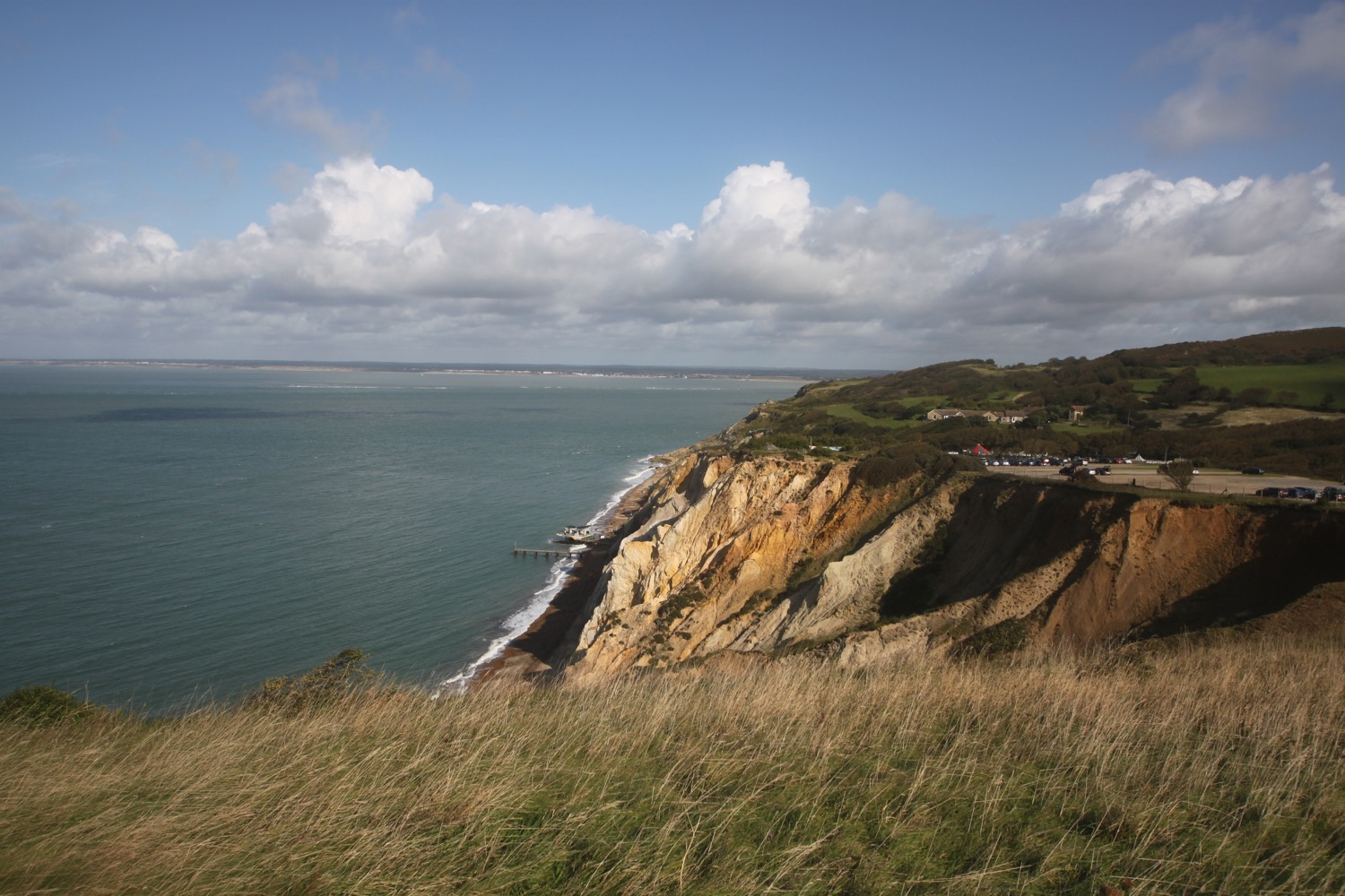 view over alum bay