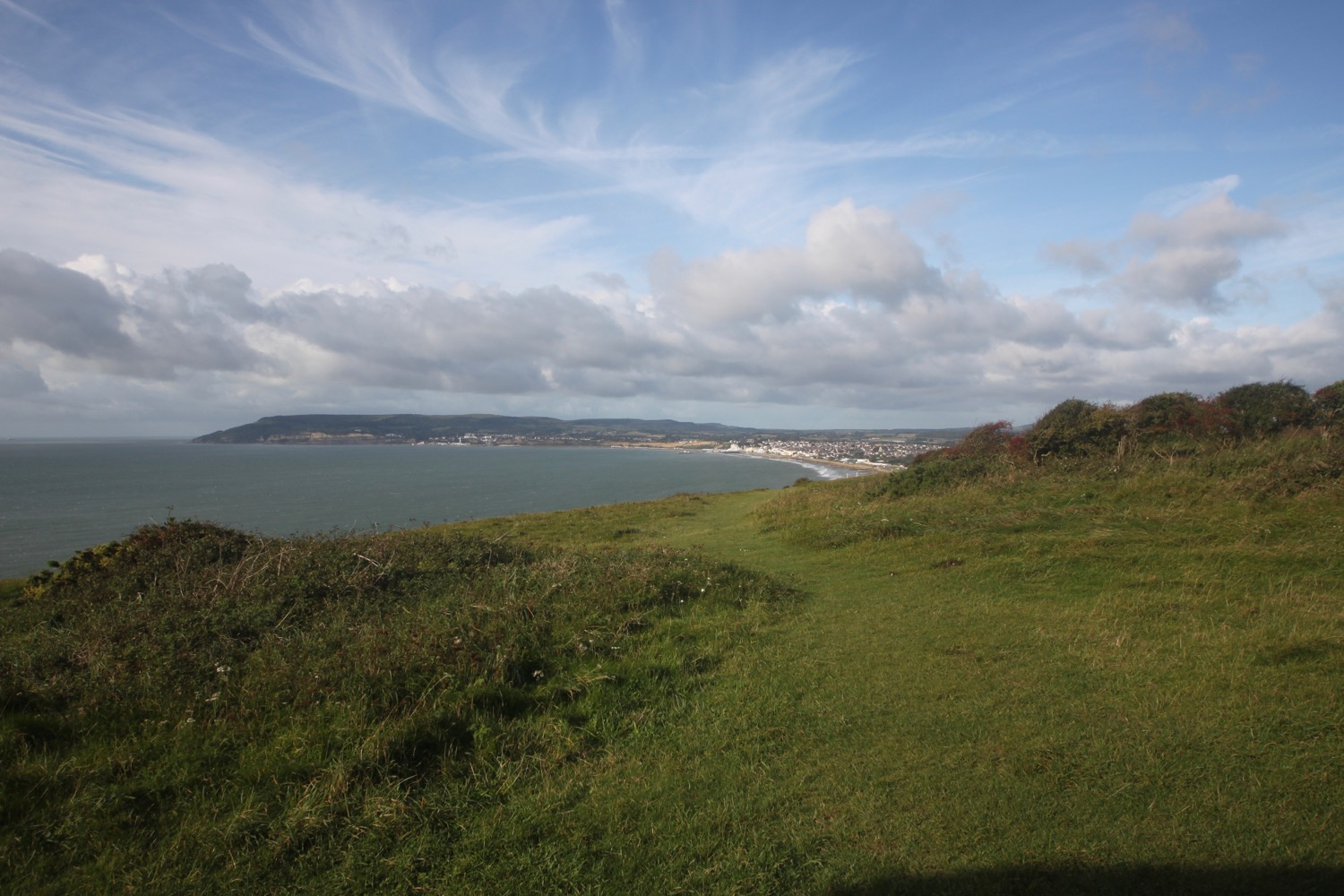 view over sandown and shanklin