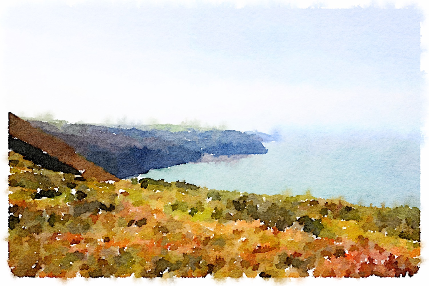 view over lynmouth