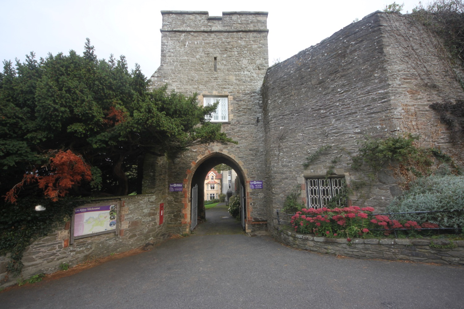 entrance to lee abbey