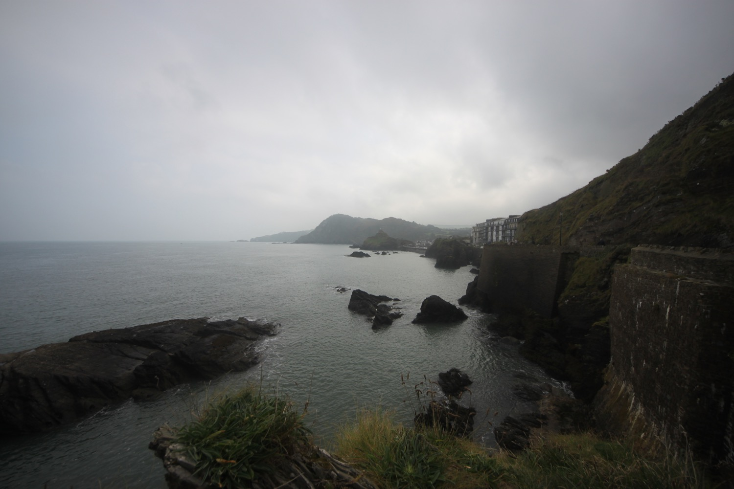 view back over ilfracombe