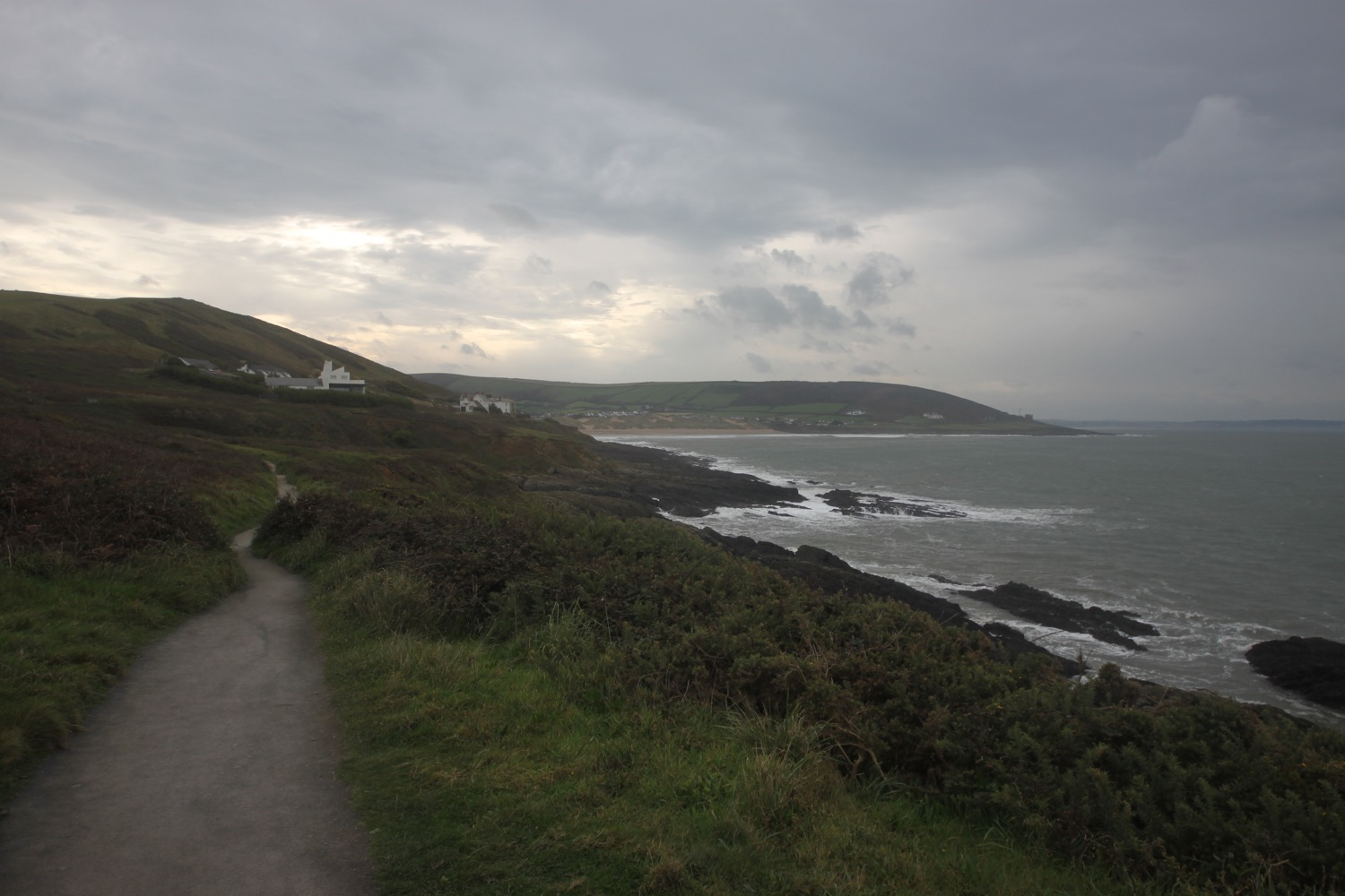 view over croyde