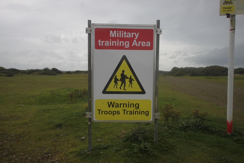 military training area