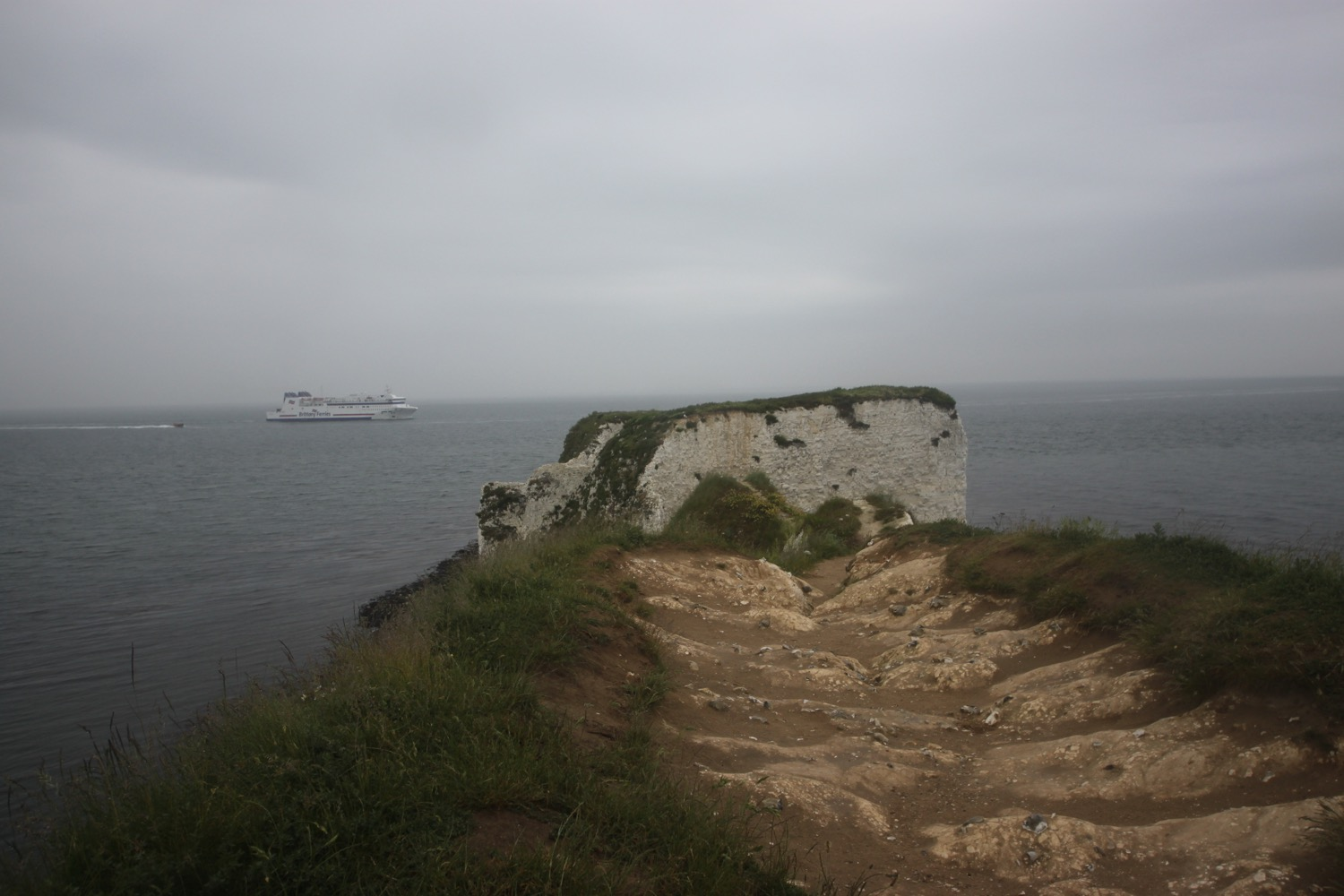 old harry rocks with ferry