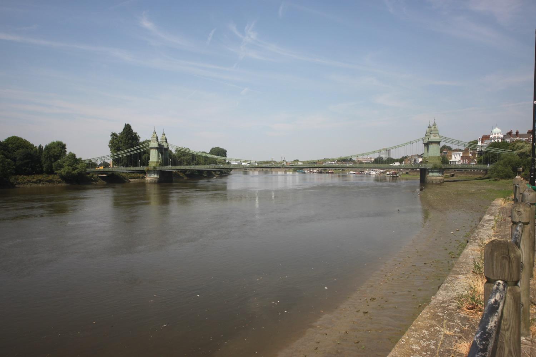 looking back to hammersmith bridge