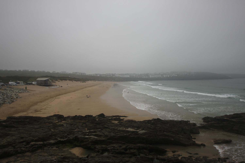 murky fistral beach