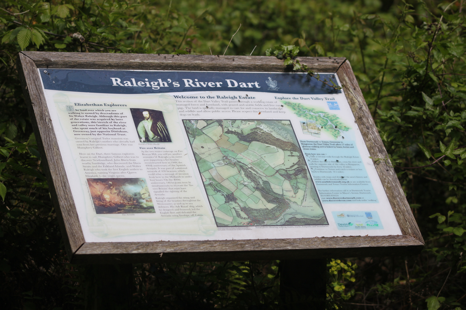 raleigh estate information board