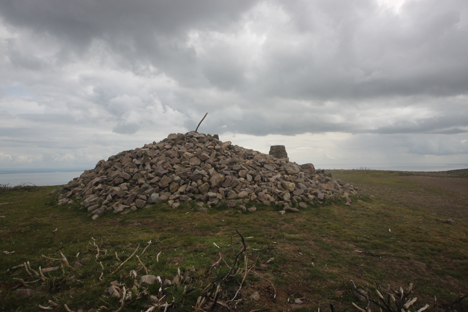 cairn on selworthy beacon
