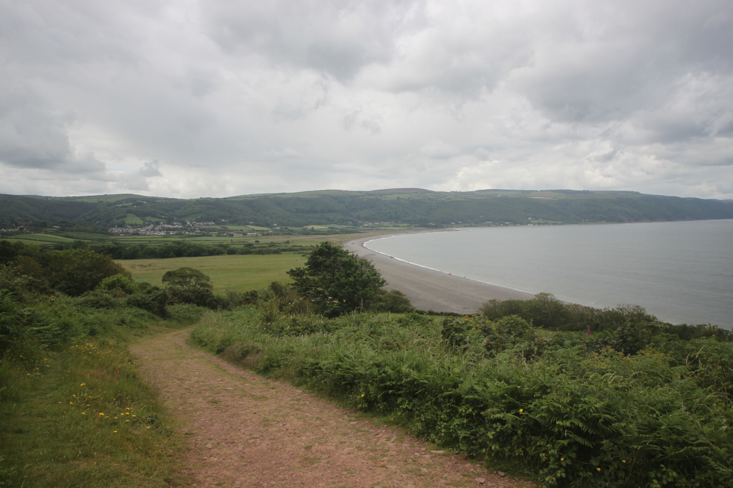 view over porlock ridge