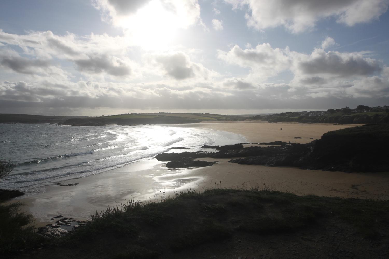 overlooking harlyn bay
