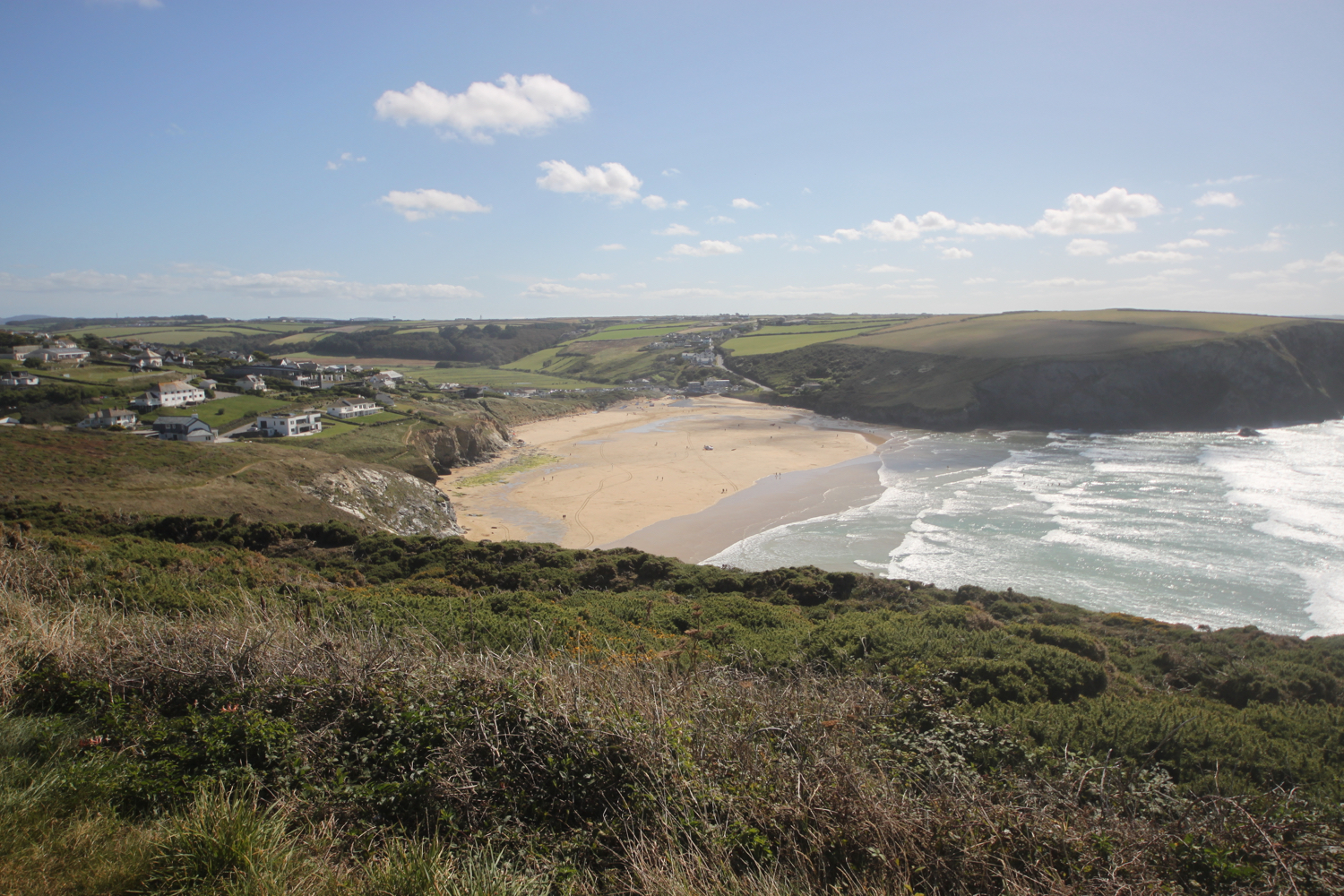 view over mawgan porth