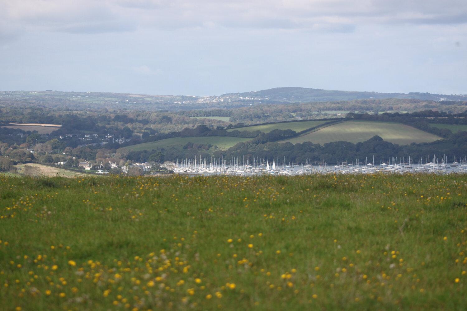 view over mylor creek