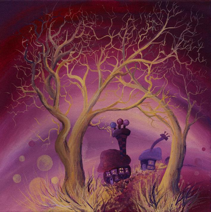 Violet golden trees card.jpg