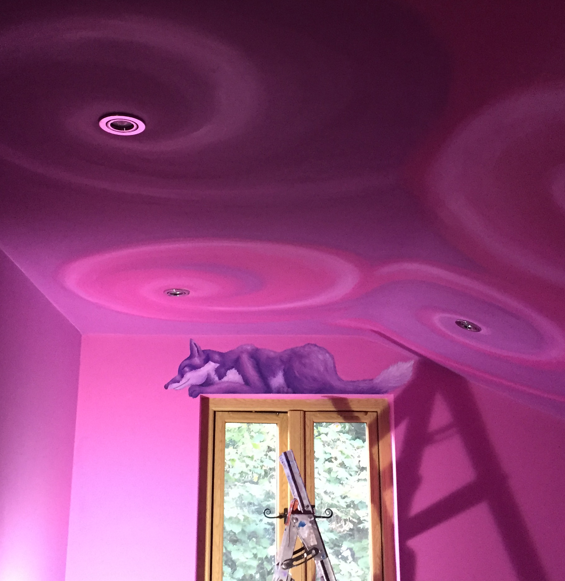 Swirly Ceiling and Fox