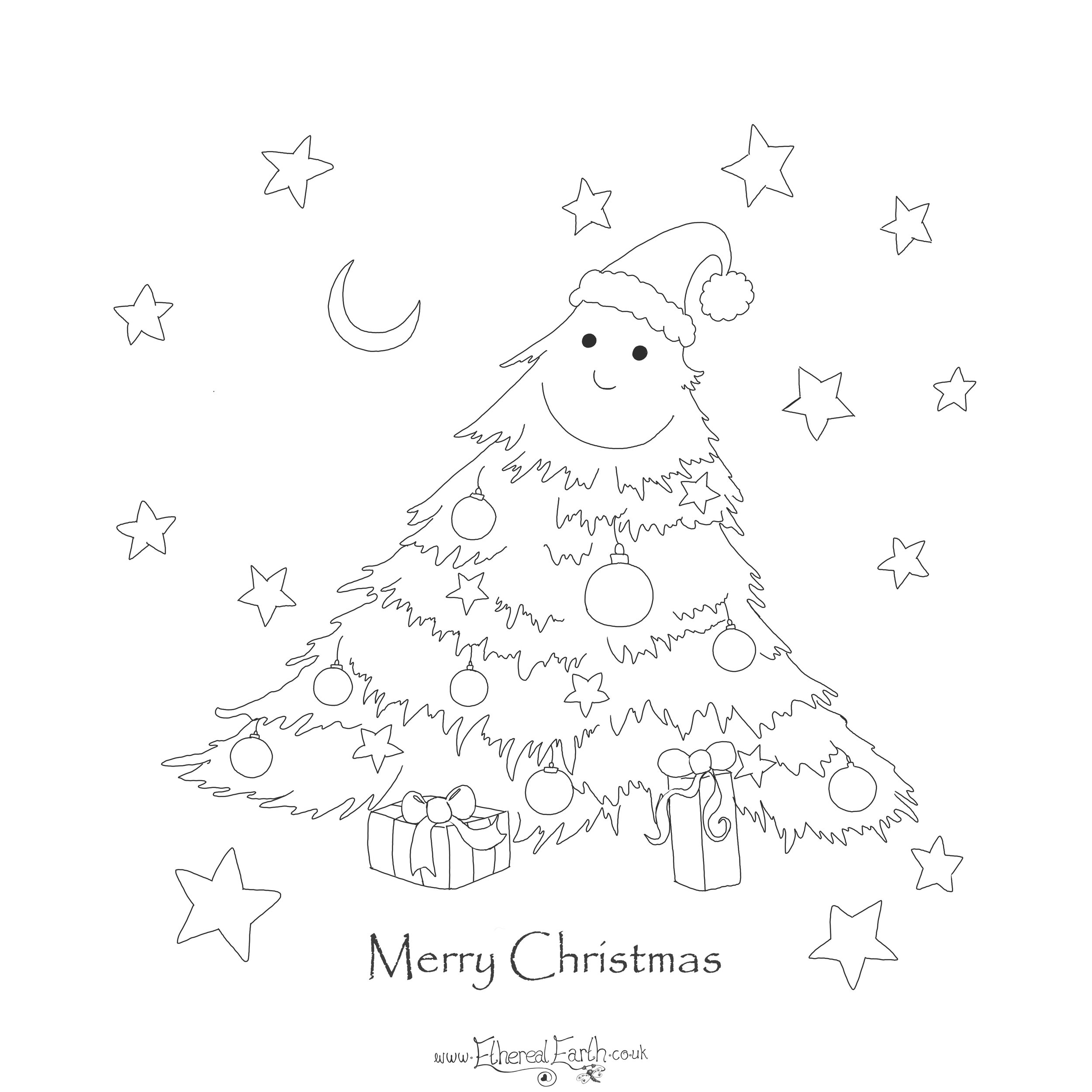 Merry Christmas - Free colouring in sheet, just click on the picture to download the file to print out.