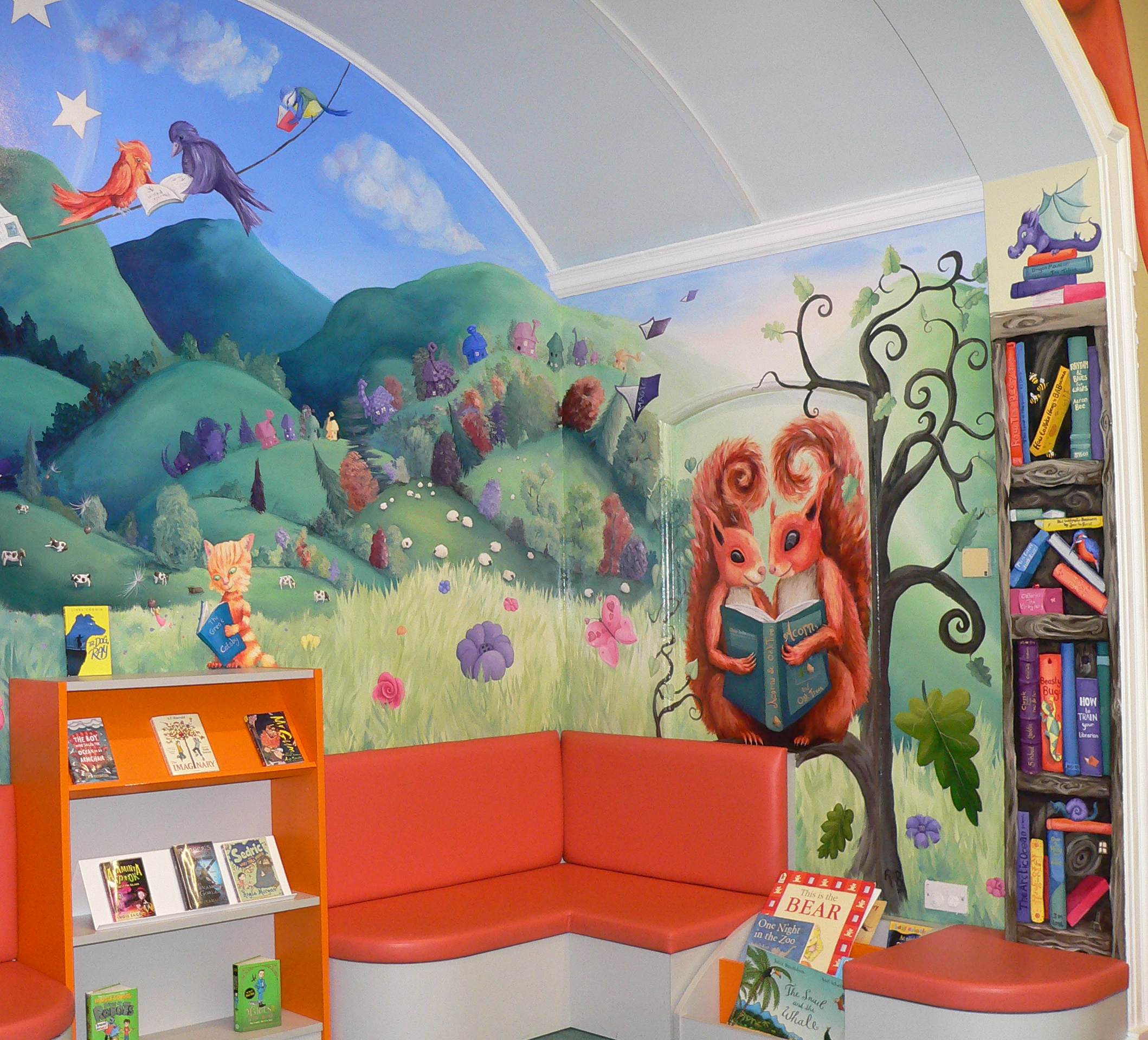 Malvern Library Children's section mural