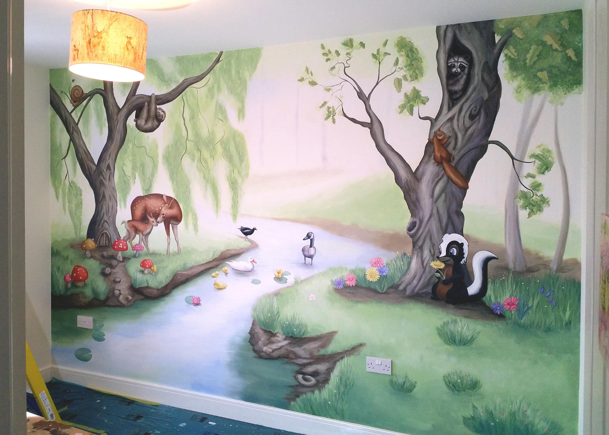 Woodland Creature mural