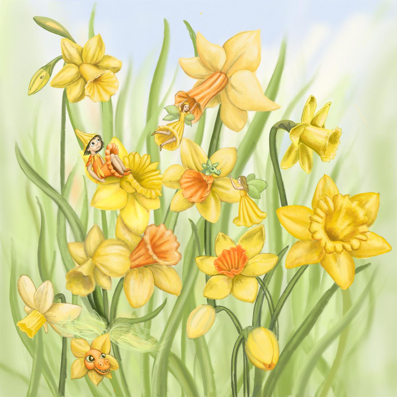 Dancing Daffodils -