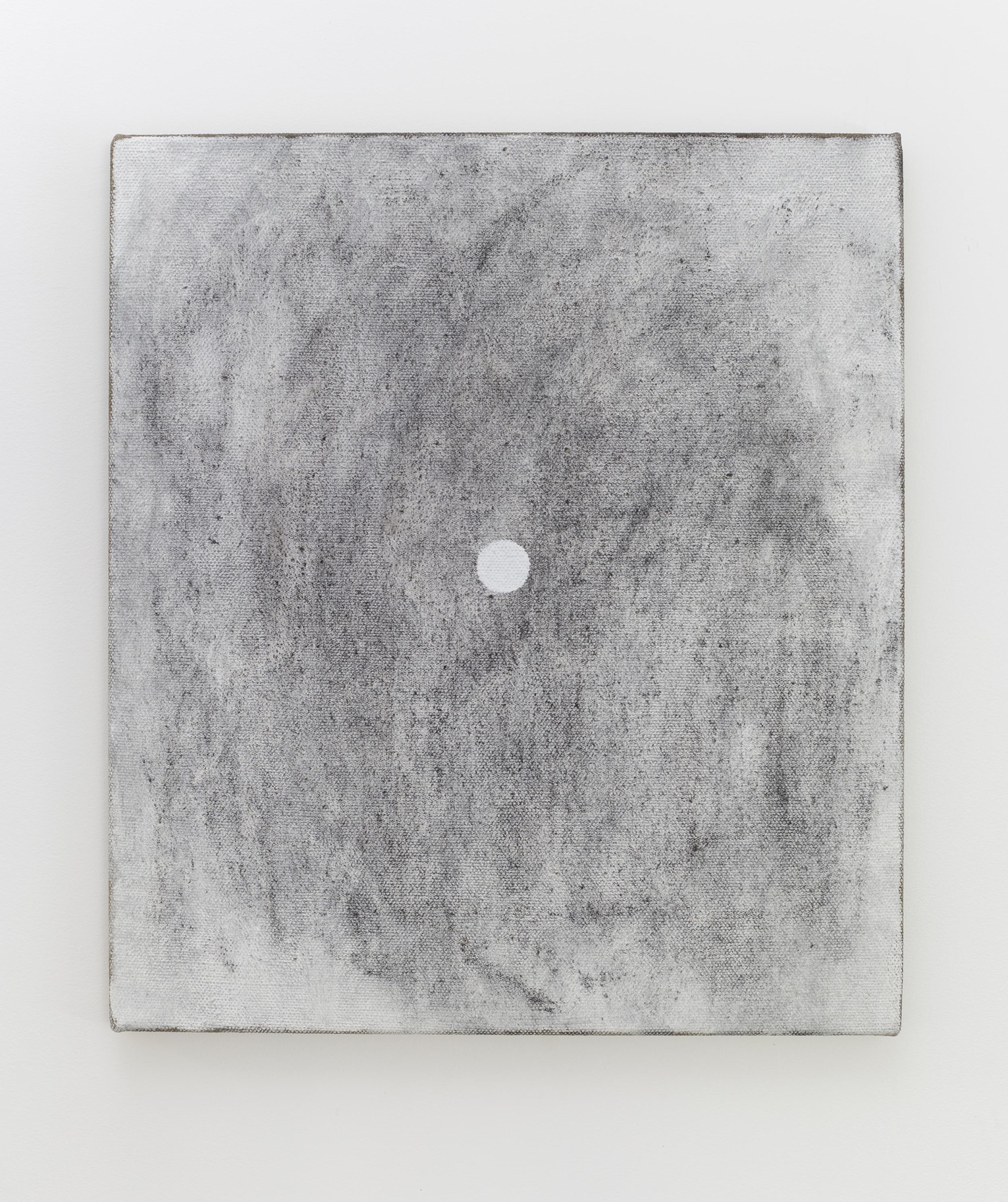 Eleanor Louise Butt, Untitled (burnt log rubbing), 2016. Oil and burnt log charcoal on Belgian linen 46cm x 41.5cm