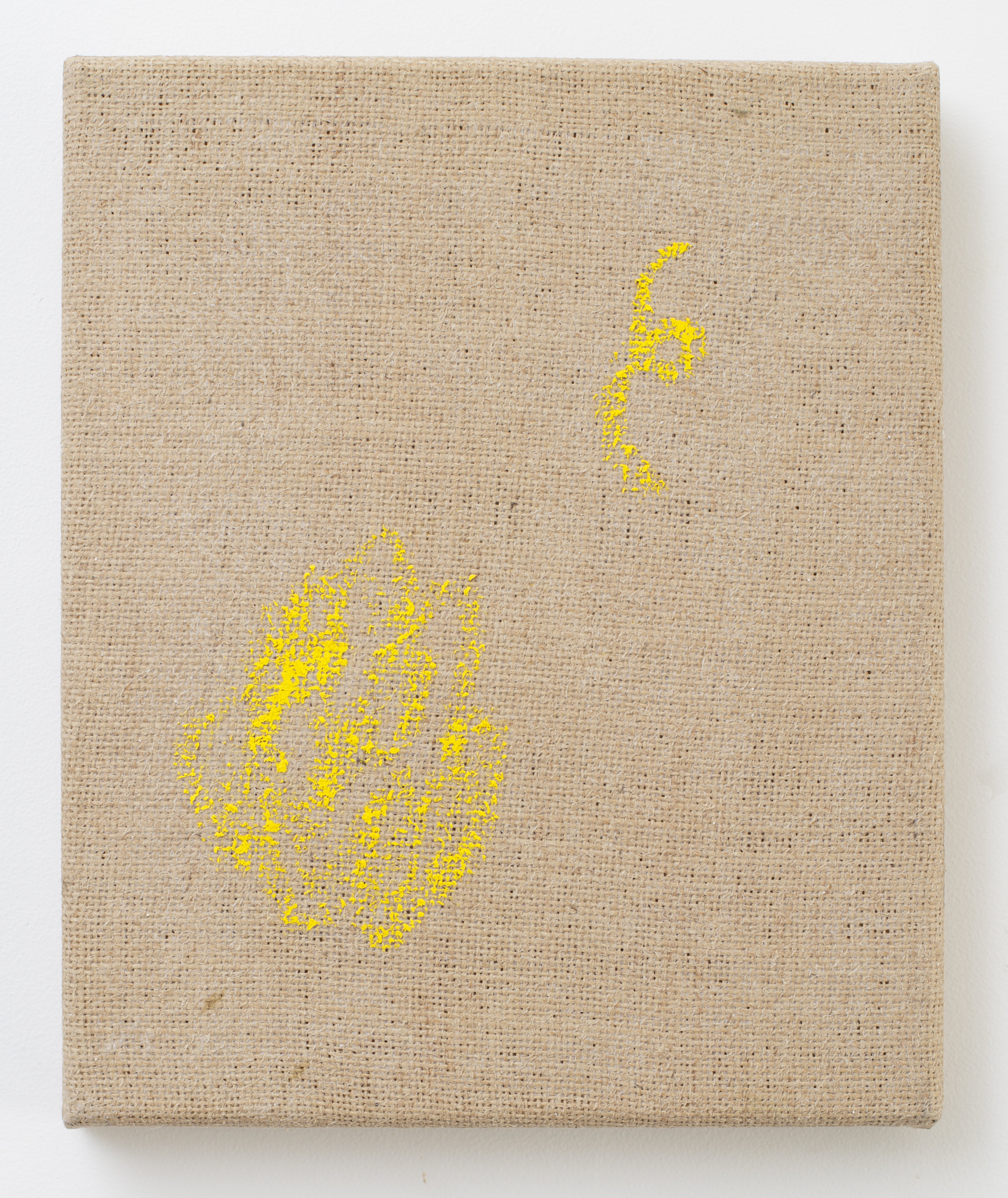 Eleanor Louise Butt, 'Tawarri', oil-stick on jute, 2017, 28 x 23cm.
