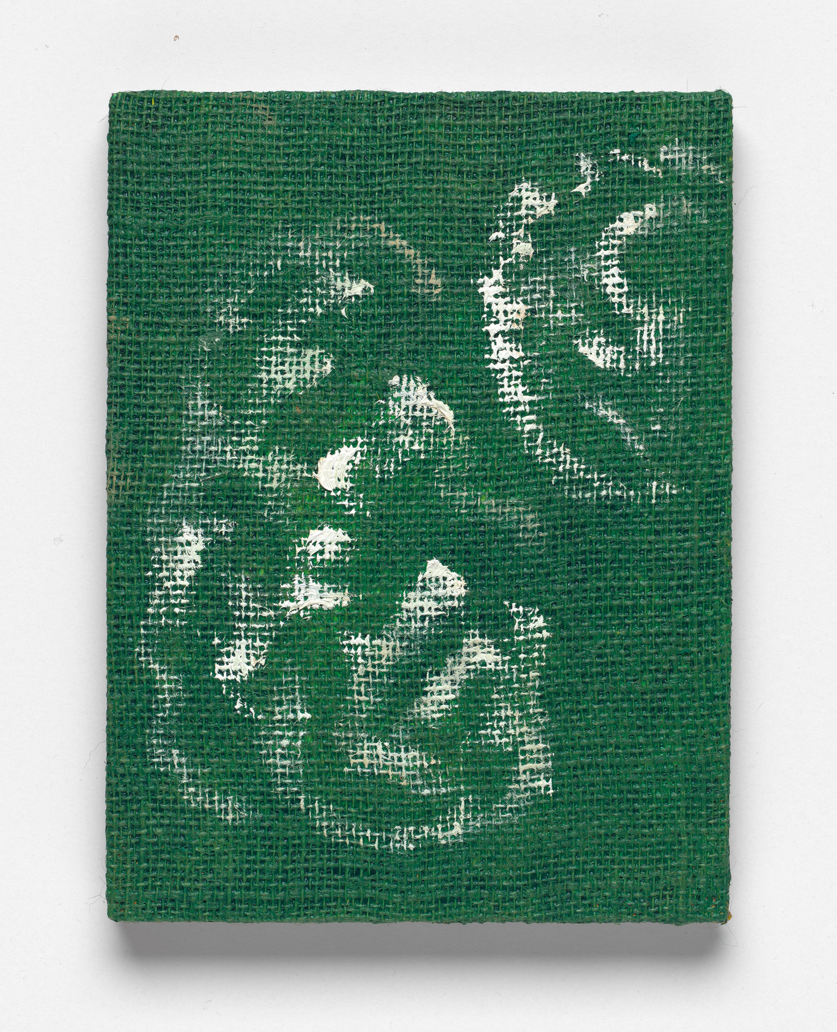 After L'Été 1 (green), Oil on Hessian on Board, 30 x 23cm, 2018. Photograph by Matthew Stanton.