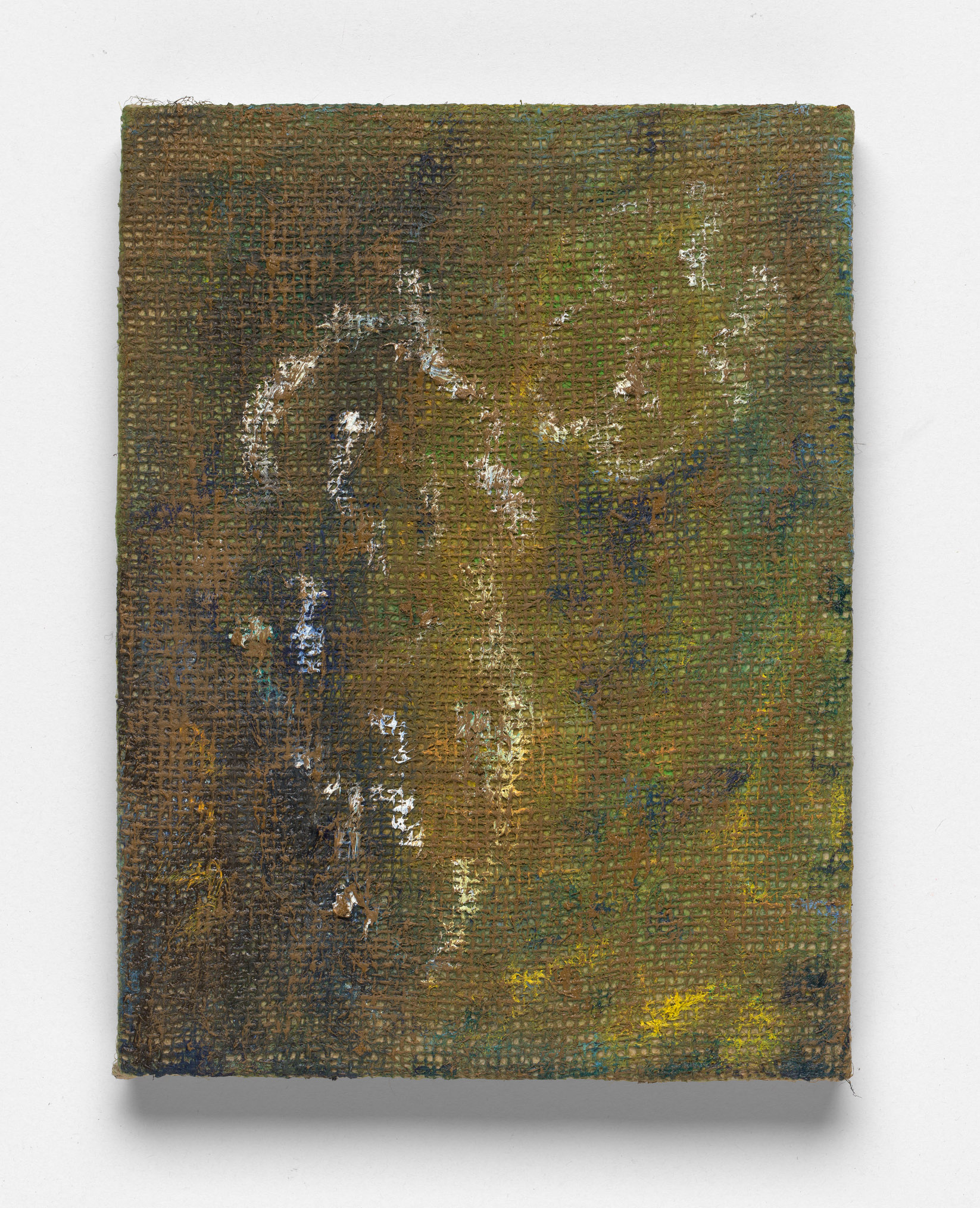 After L'Été 5, Oil on Hessian on Board, 30 x 23cm, 2019. Photograph by Matthew Stanton.