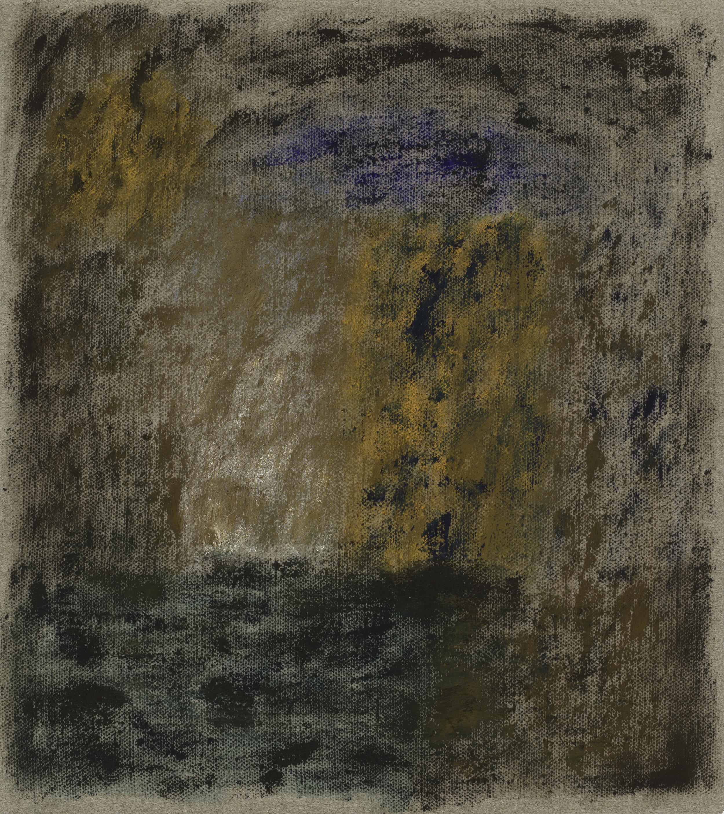 After L'Été 7. Oil on Linen, 46 x 41cm, 2019.