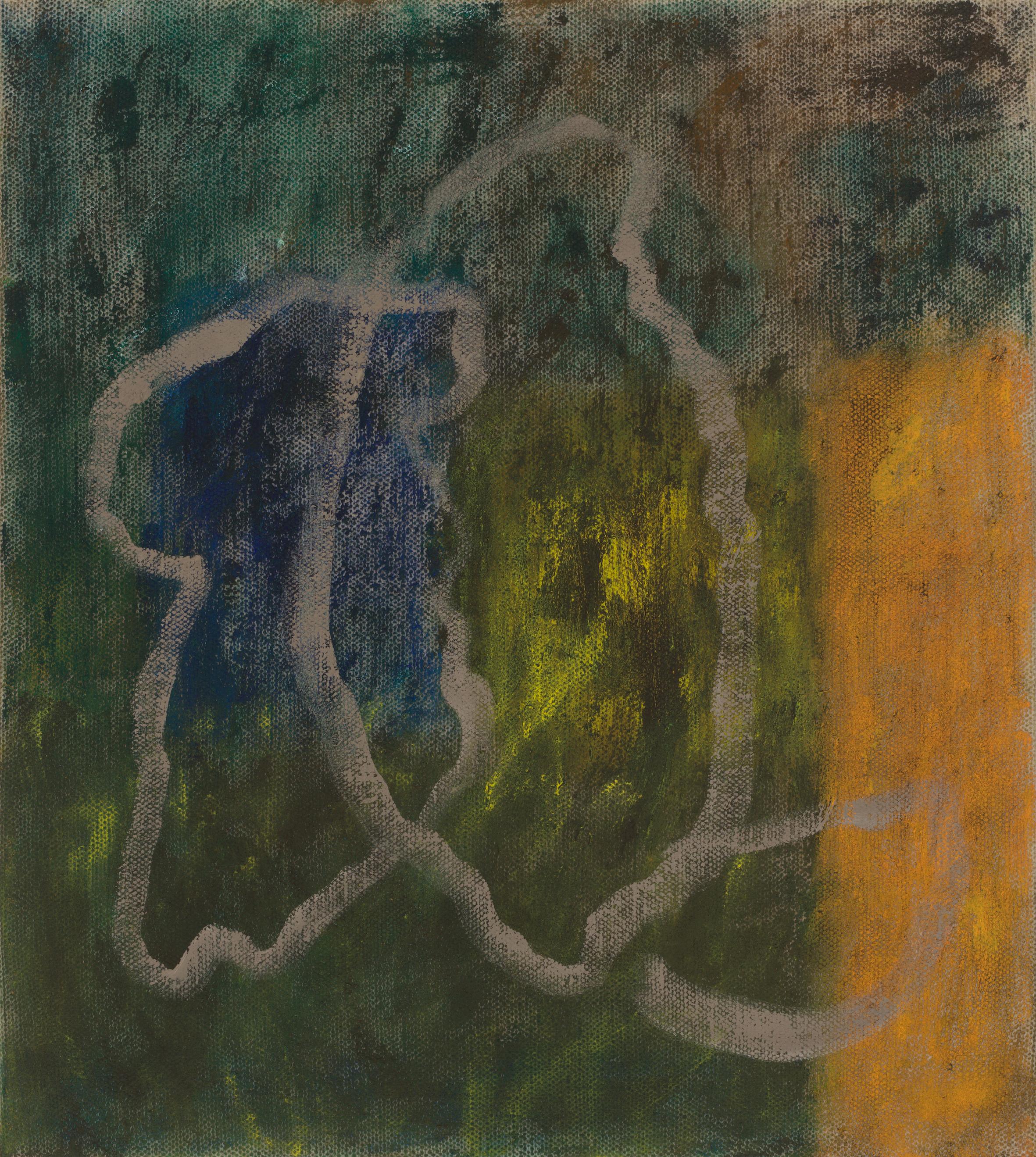 Emergence. Oil on Linen, 46 x 41cm, 2019.