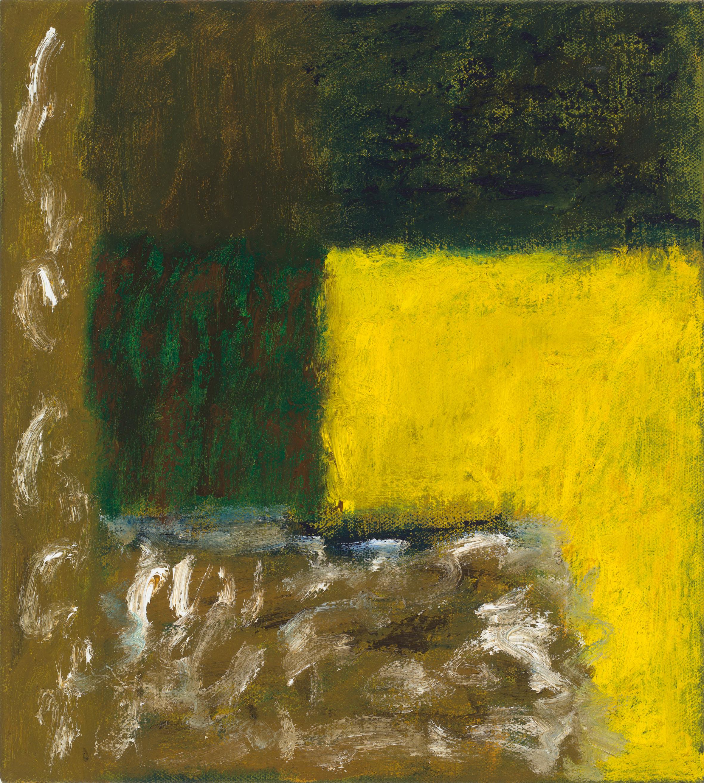 After L'Été 14. Oil on Linen, 46 x 41cm, 2019.