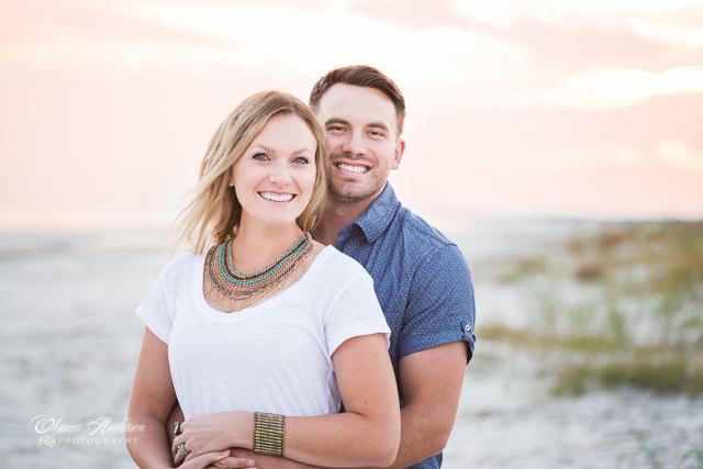 romantic couple photo dusk Charleston beach sc