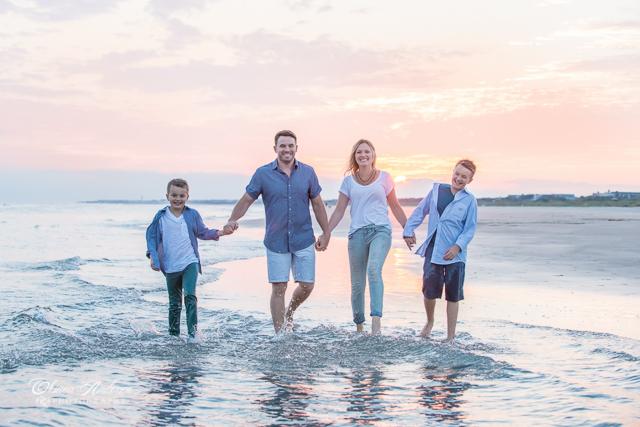 enjoying beaches of Charleston SC photo session