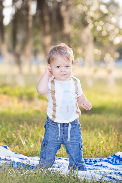 one year old boy photo session