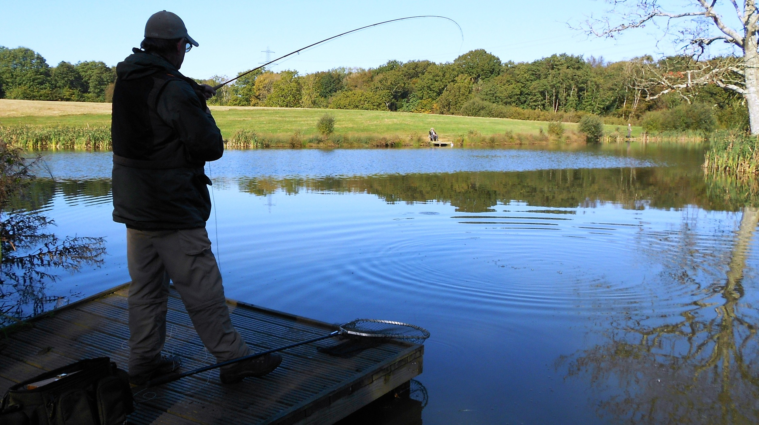Peter Winder at the Brick Farm Lakes with the Eastbourne and District Fly Fishing Club