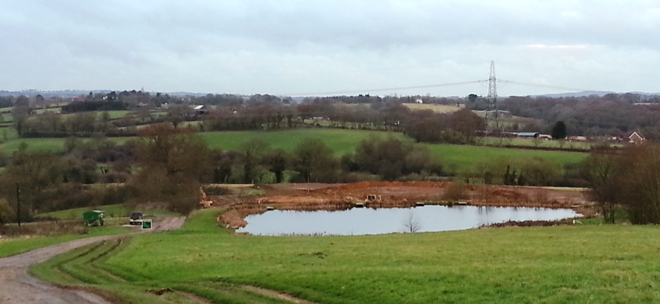 New lake under construction at Brick Farm